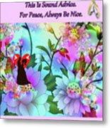 Brian Exton Celestial Flowers  Bigstock 164301632  2991949 Metal Print