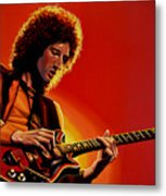 Brian May Of Queen Painting Metal Print