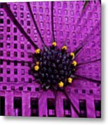 Brick And Mortar Daisy Metal Print