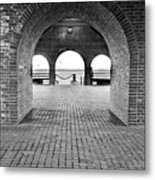 Brick Arch Metal Print by Greg Fortier