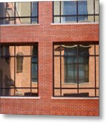 Brick Building Metal Print