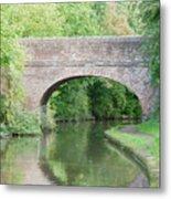 Brick Canal Bridge  Metal Print