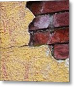 Brick Exposed Metal Print