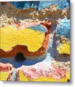 Brick In Sun Metal Print