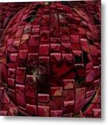 Brick Red Metal Print