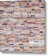 Brick Tiled Wall Metal Print