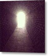 Brick Tunnel  Metal Print