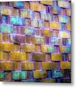 Brick Wall In Abstract 499 S Metal Print