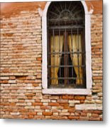 Brick Window Metal Print