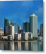 Brickell Skyline 2 Metal Print