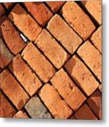 Bricks Made From Adobe Metal Print