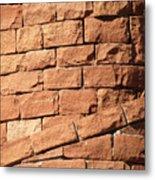 Bricks Spiraling Metal Print