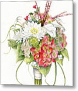 Bridal Bouquet Metal Print