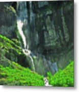 Bridal Veil Falls Canvas 1 Metal Print