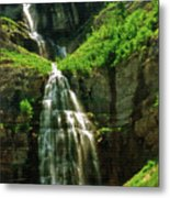 Bridal Veil Falls Canvas 3 Metal Print