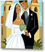 Bride And Groom Metal Print