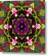 Bride's Maids Boquet Kaleidoscope Metal Print