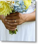 Brides Wedding Ring Metal Print