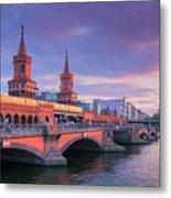 Bridge Across The River Spree, Berlin, Germany Metal Print