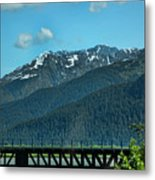 Bridge Alaska Rail  Metal Print