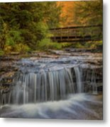 Bridge And Falls Metal Print