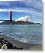 Bridge And Sea Metal Print