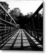 Bridge And Tunnel - B/w Metal Print