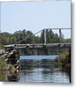 Bridge At Chub Metal Print