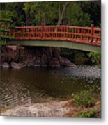 Bridge At Morikami Metal Print