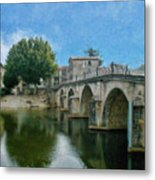 Bridge At Quissac - P4a16005 Metal Print