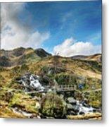 Bridge At Snowdonia Metal Print
