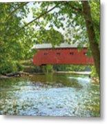 Bridge At The Green Metal Print