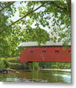Bridge At The Green - Widescreen Metal Print