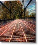Bridge Crossing  Metal Print