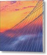 Bridge Detail At Sunrise Metal Print