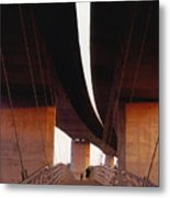 Bridge From Belle  Isle Metal Print