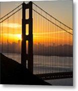 Golden Gate Sunrise Metal Print