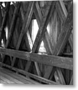 Bridge Glow Metal Print