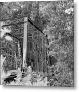 Bridge In Black And White Metal Print
