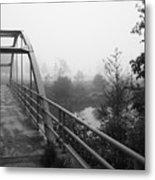 Bridge In Fog  Metal Print