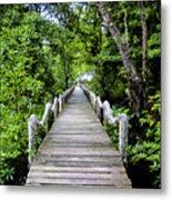 Bridge In Kosrae Metal Print