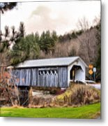 Bridge In Montgomery Metal Print