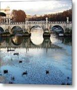 Bridge In Rome Metal Print