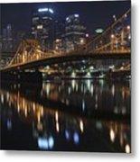 Bridge In The Heart Of Pittsburgh Metal Print