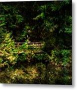 Bridge In The Woods Metal Print