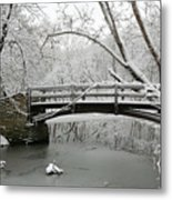 Bridge In Winter Metal Print