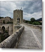 Bridge Of Besalu, Girona Provence, Catalonia, Spain-2 Metal Print