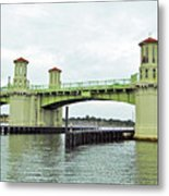 Bridge Of Lions From The Water Metal Print