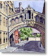 Bridge Of Sighs. Hertford College Oxford Metal Print by Mike Lester