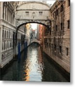 Bridge Of Sighs In Venice In Morning Light Metal Print